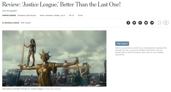 NYTimes Justice League